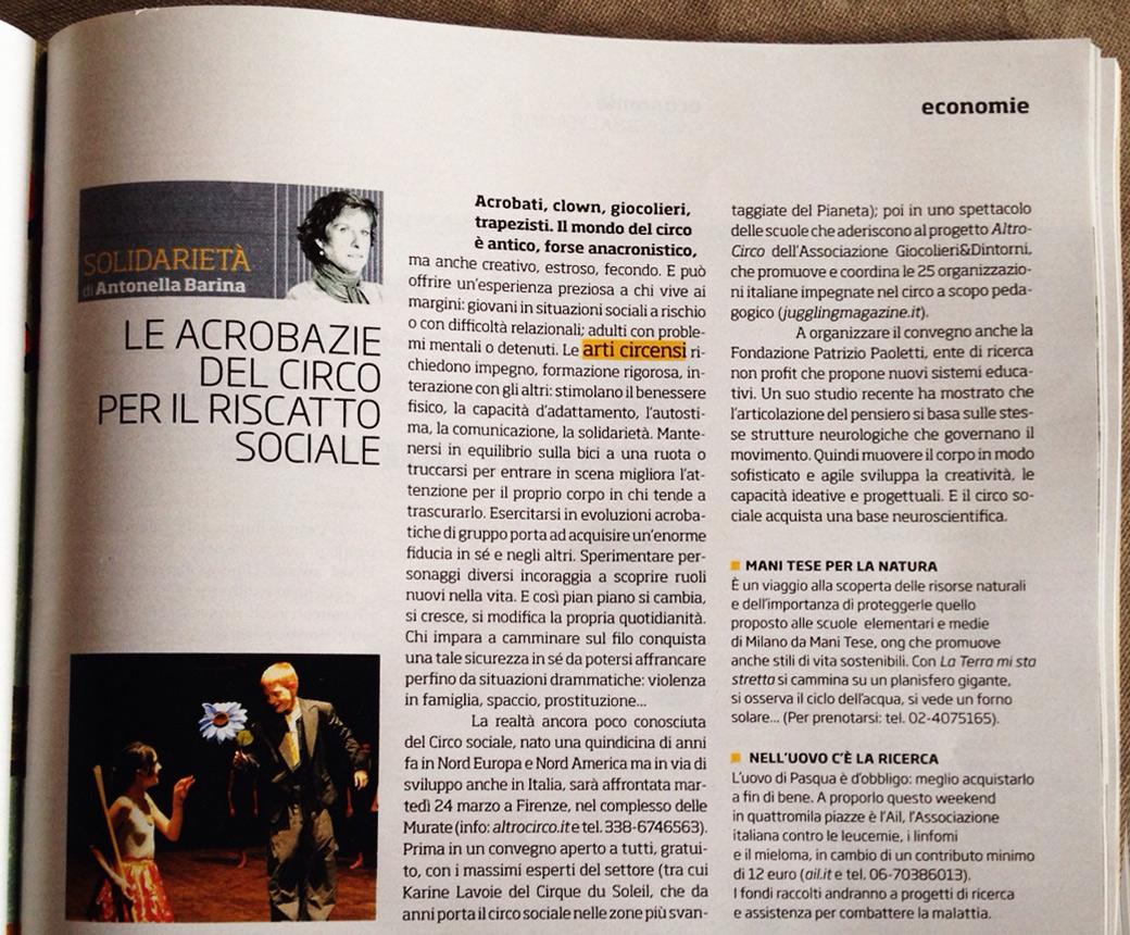 Il Venerdì di Repubblica del 20.03.2015