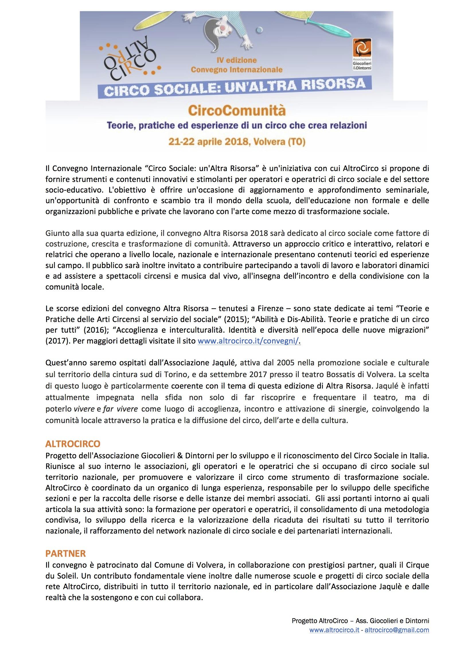 Presentazione AltraRisorsa 2018 - provvisorio 1