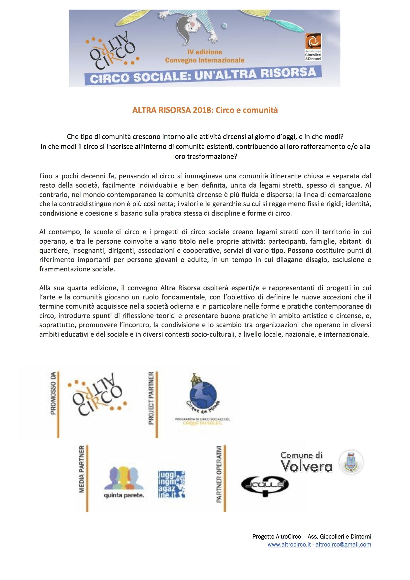 Presentazione AltraRisorsa 2018 - provvisorio 2