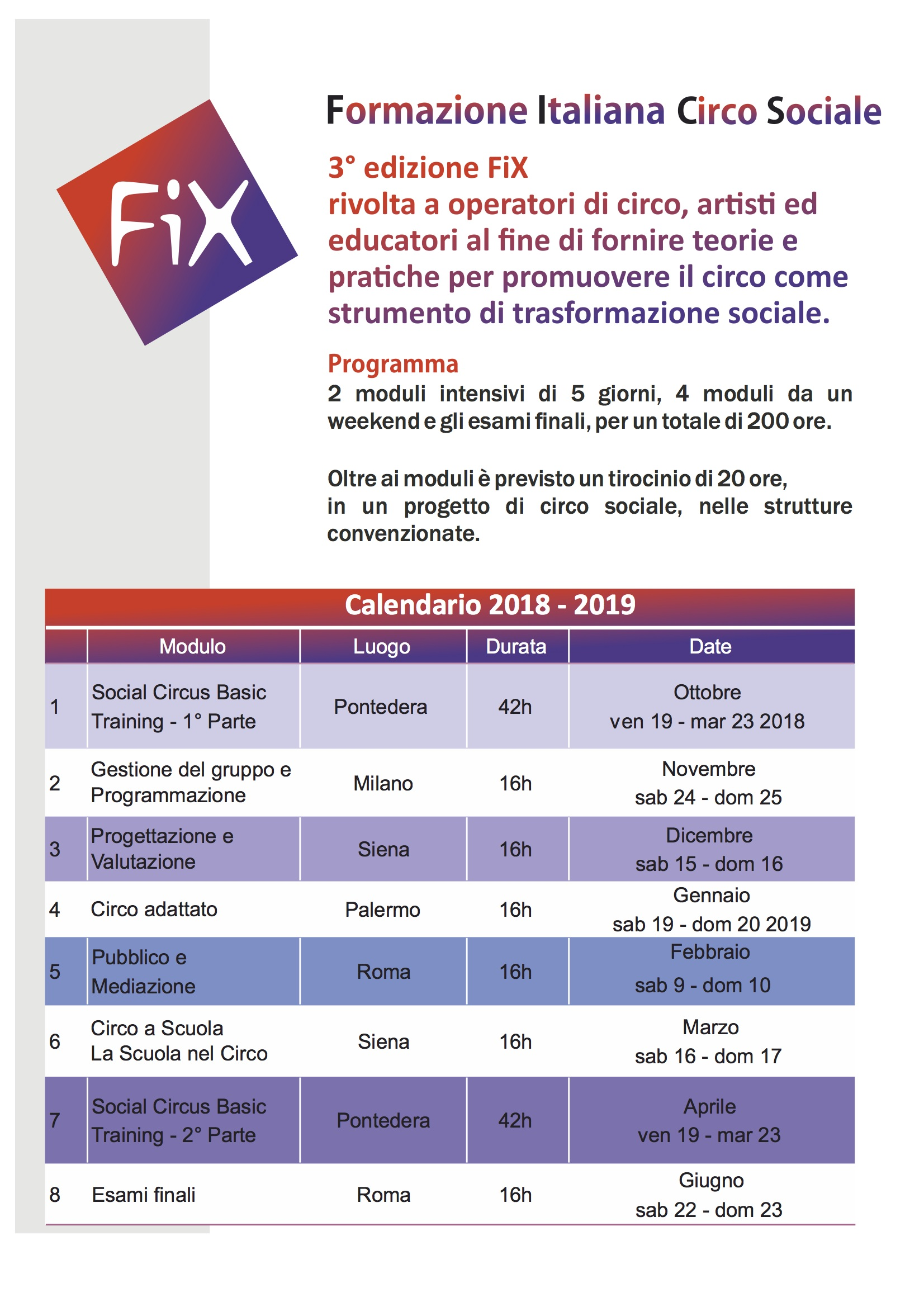 cartolina fix - calendario
