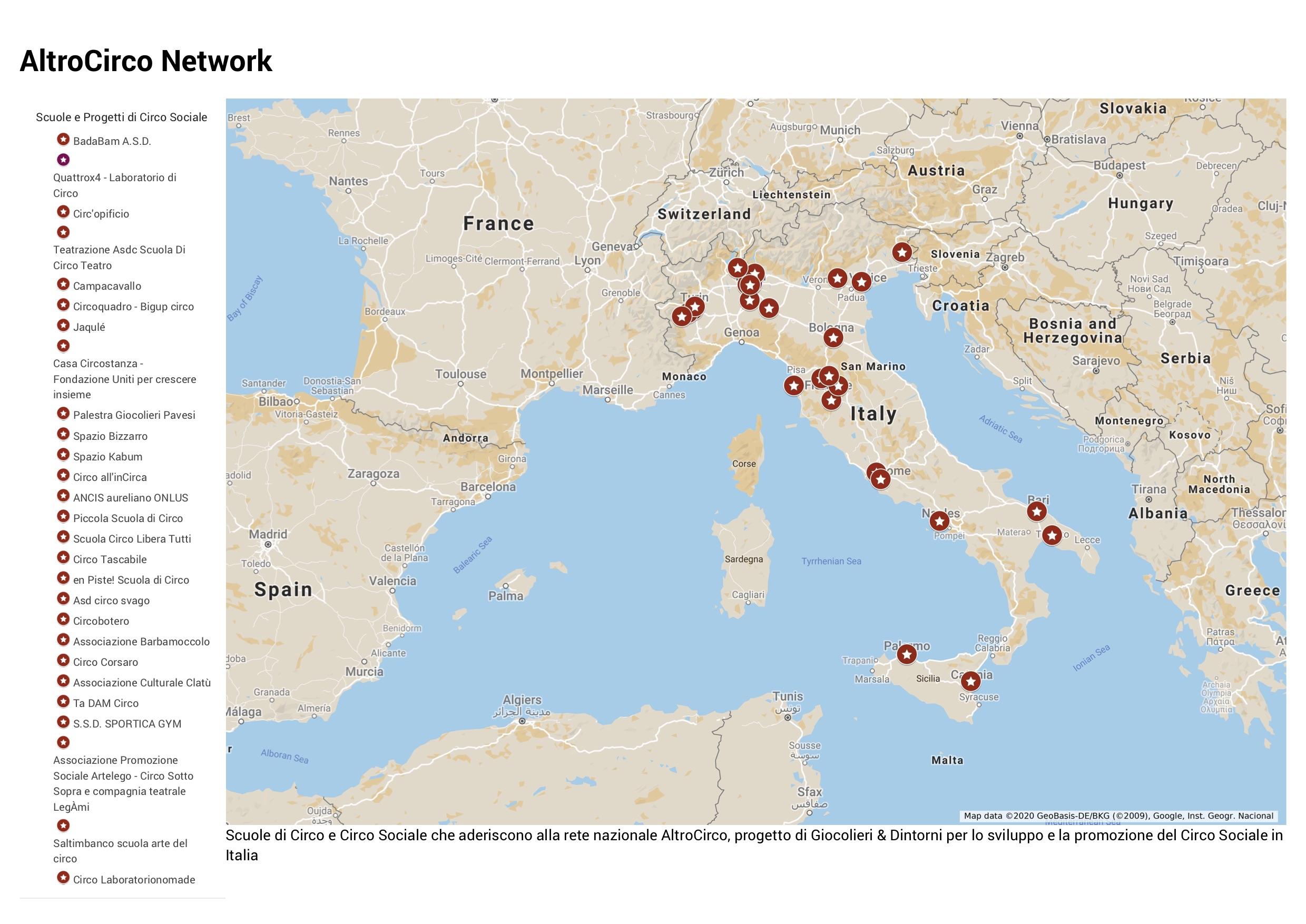 MAPPA NETWORK ITALIA